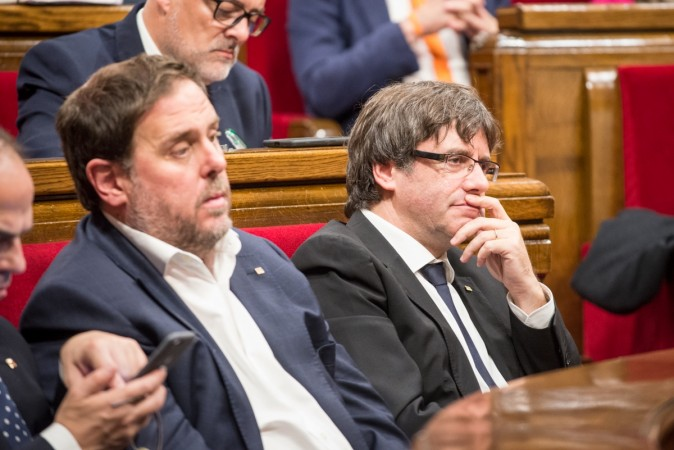 Catalonia's sacked President Carles Puigdemont
