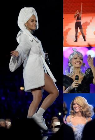 Rita Ora bathrobe MTV EMA 2017