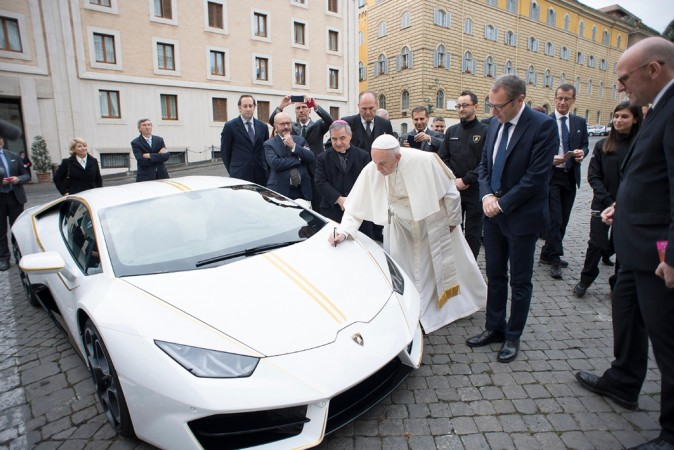 Lamborghini Huracan to Pope Francis