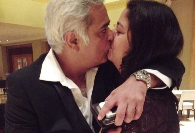 Hansal Mehta kissing wife Safeena Husain
