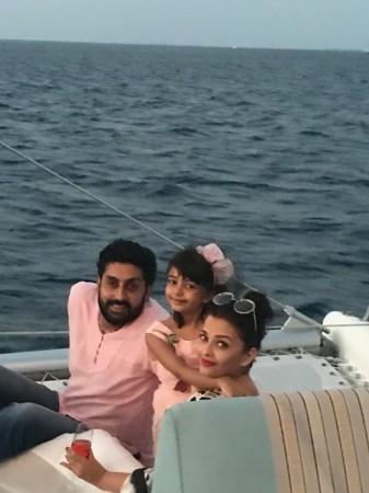 Abhishek Bachchan, Aishwarya Rai Bachchan and daughter Aaradhya Bachchan