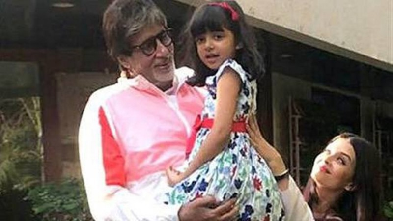 Amitabh Bachchan and his granddaughter Aaradhya