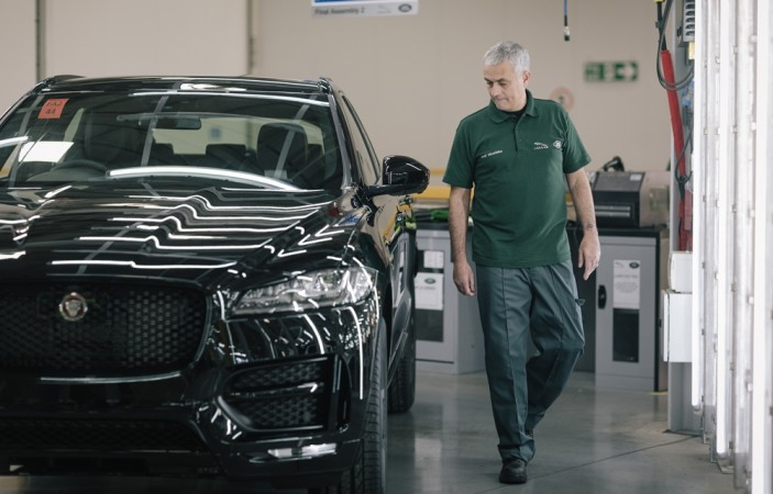 Jose Mourinho with his Jaguar F-Pace