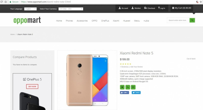 Xiaomi, Redmi Note 5, launch, Oppomart, price, specifications