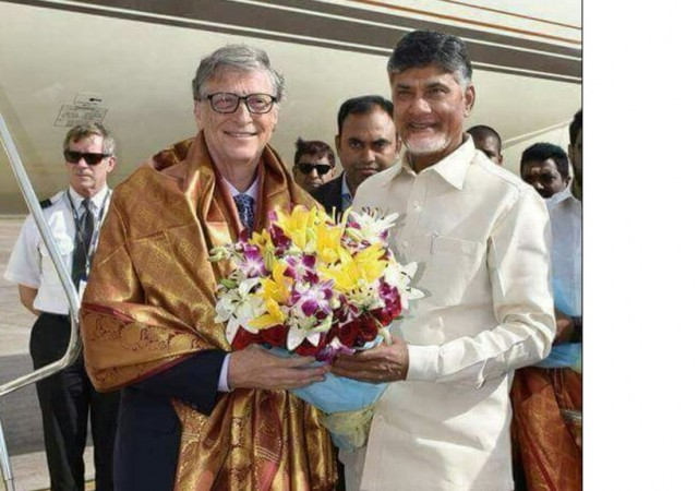 Bill gates and Chandrababu naidu