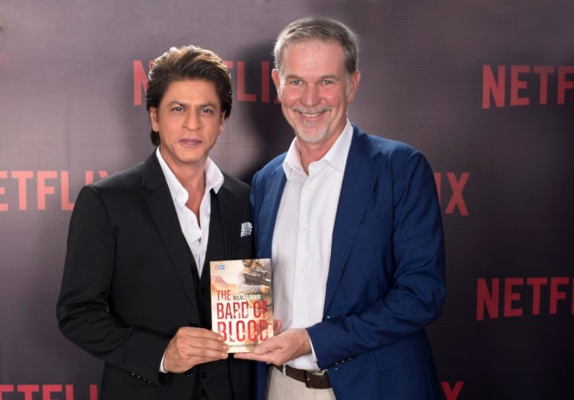 Shah Rukh Khan with Netflix chief executive Reed Hastings