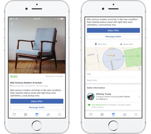 Facebook Marketplace debuts in India