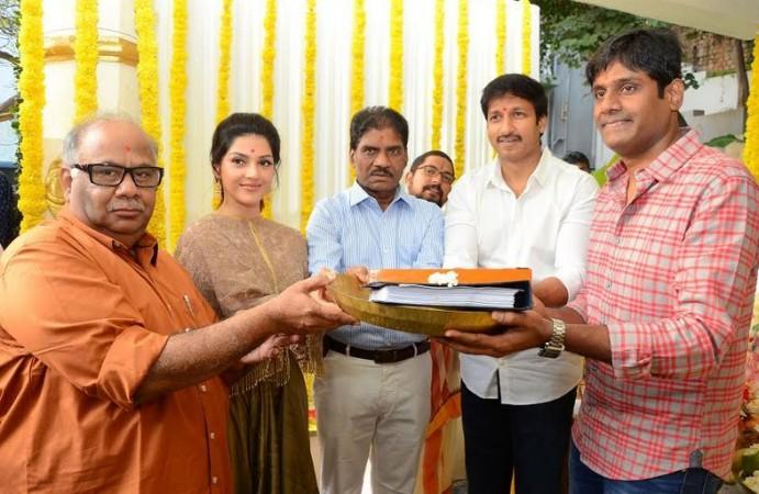 BVSN Prasad hands over the script of Gopichand's 25th film to director Chakri