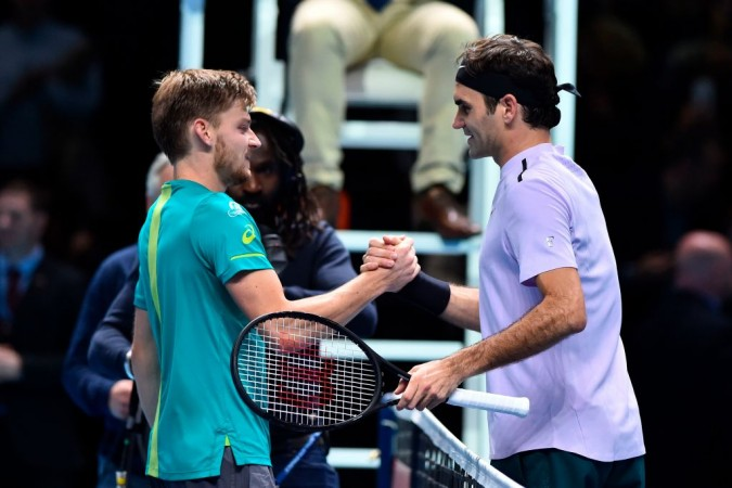 David Goffin and Roger Federer