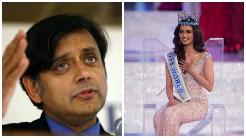 Shashi Tharoor and Manushi Chhillar
