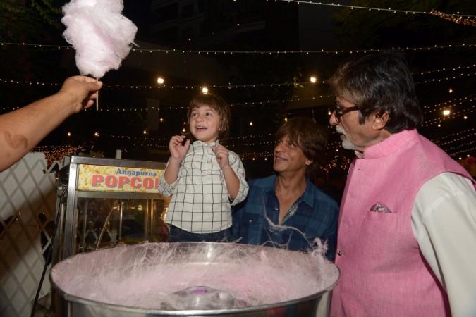 AbRam, SRK and Big B's photo goes viral at Aaradhya Bachchan's birthday bash