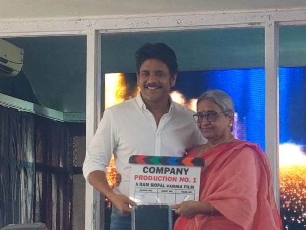 RGV's mother launches Akkineni Nagarjuna's film