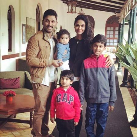 Allu Arjun with his family