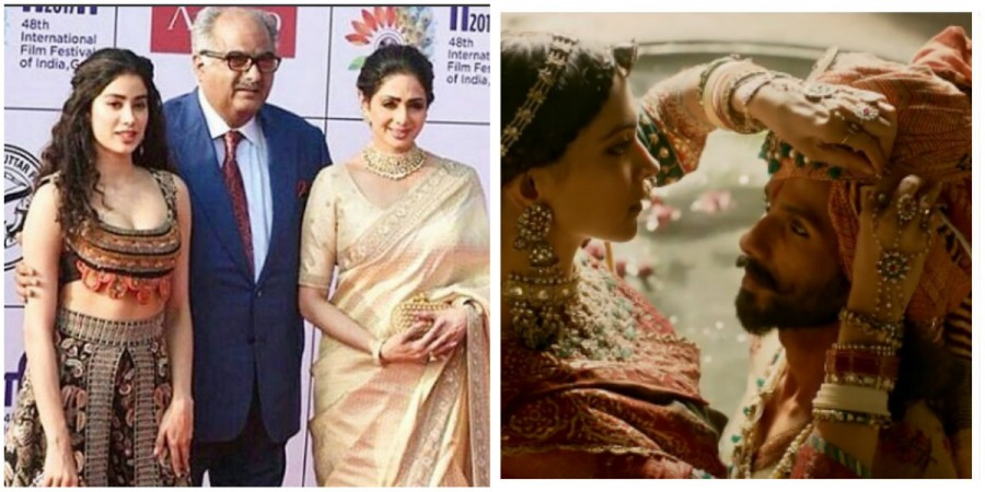 Boney Kapoor with family