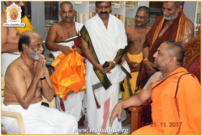 Rajinikanth at Mantralayam