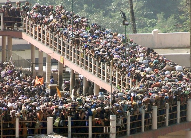 Sabarimala LIVE: Protests intensify as women wait to enter