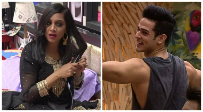 Arshi Khan and Priyank Sharma in Bigg Boss 11