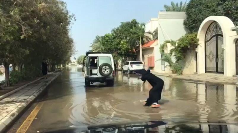 Saudi woman surfing