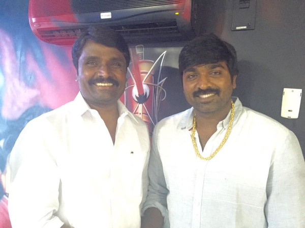 Anbu Chezhiyan with Vijay Sethupathi