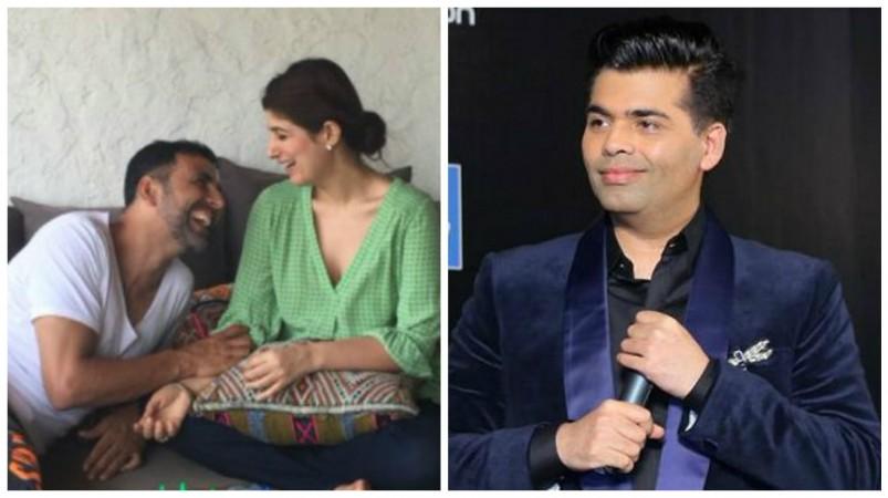 Akshay Kumar, Twinkle Khanna and Karan Johar