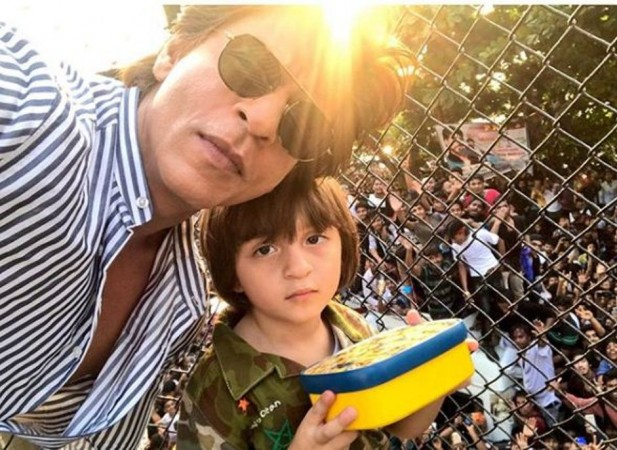 Shah Rukh Khan with AbRam