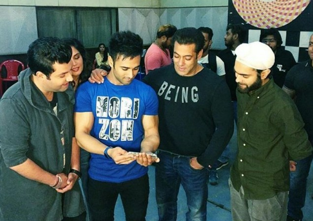 Salman Khan with Fukrey Returns team