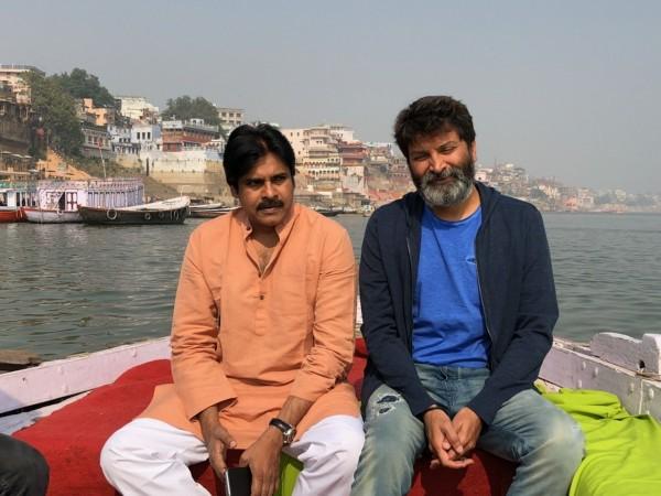 Pawan Kalyan and Trivikram Srinivas launch Agnyathavasi first look in Varanasi