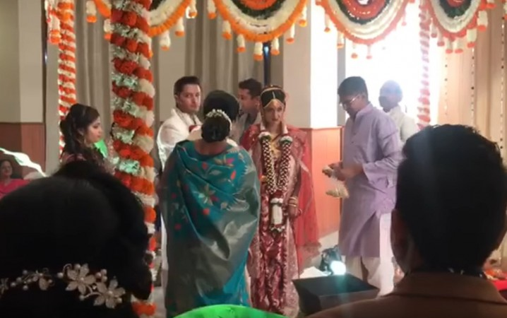 Ishita Dutta and Vatsal Seth wedding ceremony