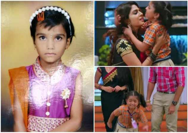 Collage of photos of Prarthana and TV serial Nandini