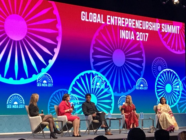 KTR with other panelists at GES 2017 session