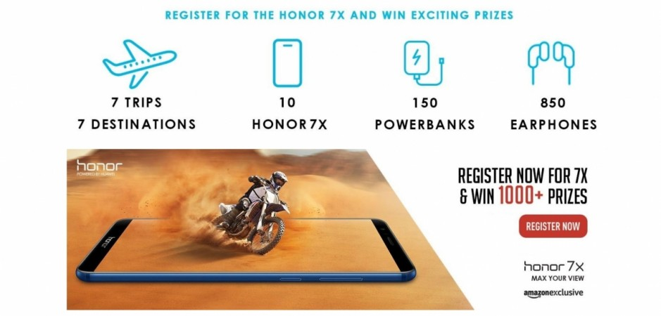 Huawei, Honor 7X, India, launch, Amazon, offers, price, specs