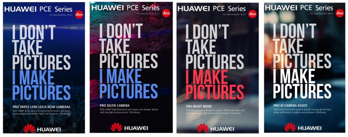 Huawei PCE-series poster ad leaked