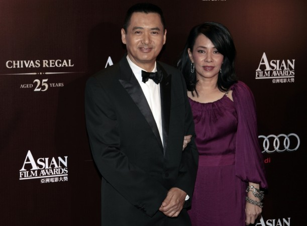 Hong Kong actor Chow Yun-fat and wife Jasmine arrive for the Asian Film Awards in Hong Kong March 21, 2011