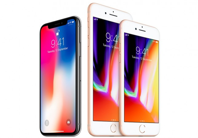 Apple's iPhone X as seen in its official site