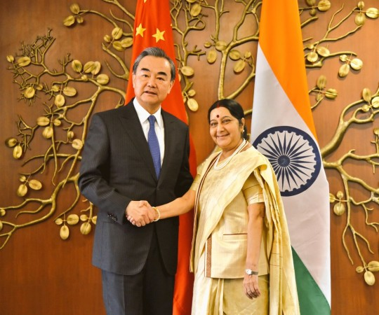 Sushma Swaraj and Wang Yi