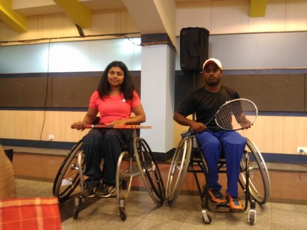 Prathima Rao and Shekhar Veerasamy (Wheelchair Tennis players)