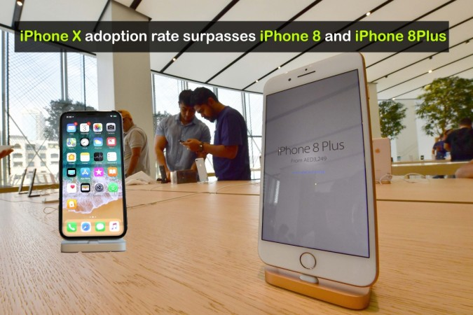 iPhone X adoption rate surpasses iPhone 8 Plus and iPhone 8