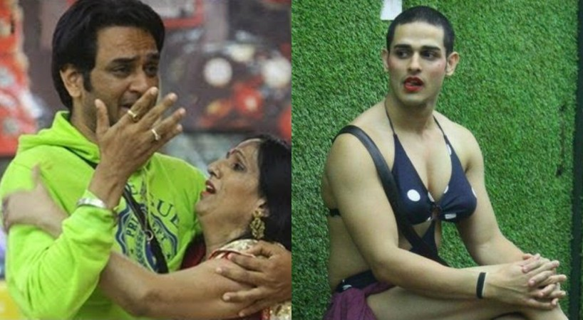 Priyank Sharma in a bikini impersonates Vikas Gupta's mother