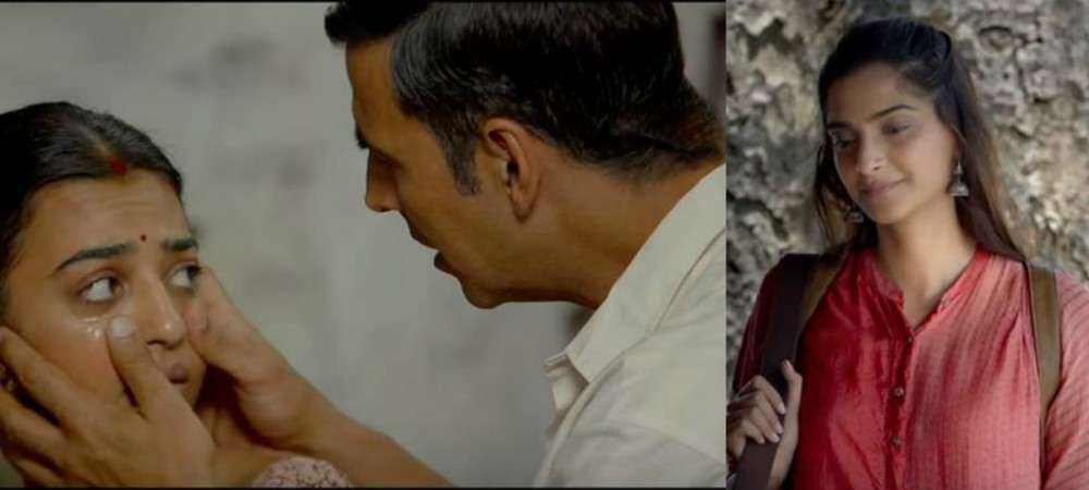 Radhika Apte, Akshay Kumar, Sonam Kapoor in Padman