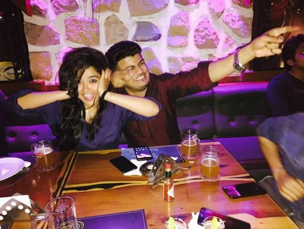 Arpita Tiwary with boyfriend Pankaj Jadhav