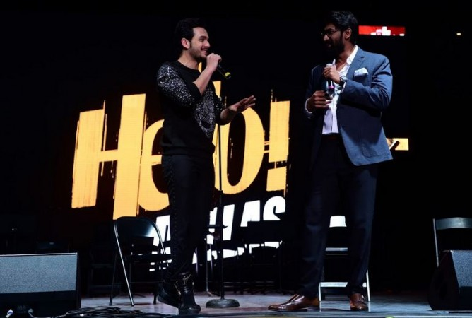 Akhil Akkineni and Rana Daggubati at Hello US tour