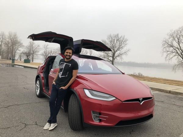 Riteish Deshmukh with his Tesla Model X