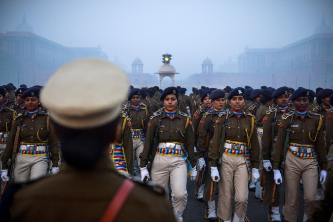 Indian women police officers