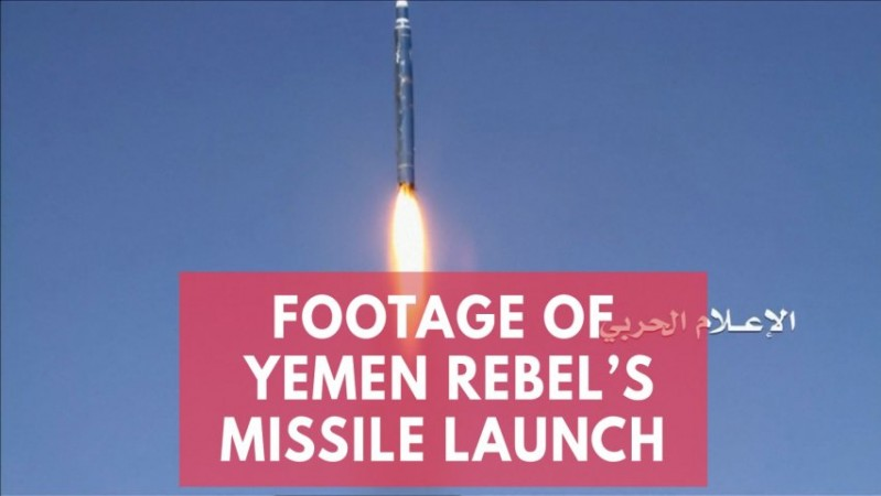 Houthi rebels release footage of its second missile launch targeting Saudi Arabia palace