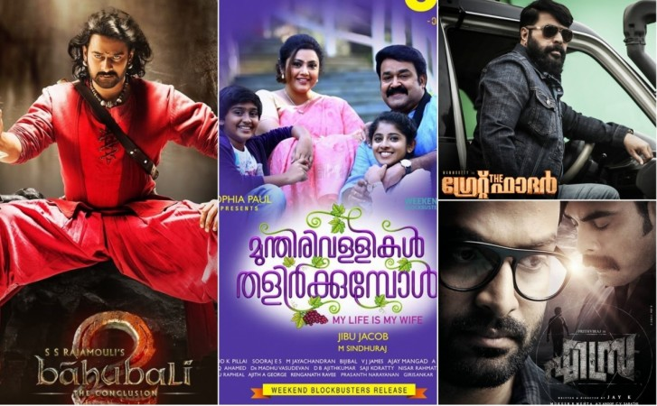 Mollywood 2017, top grossing Malayalam movies
