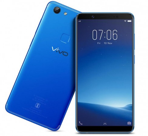 Vivo V7, Energetic Blue, India, launch, price, specifications