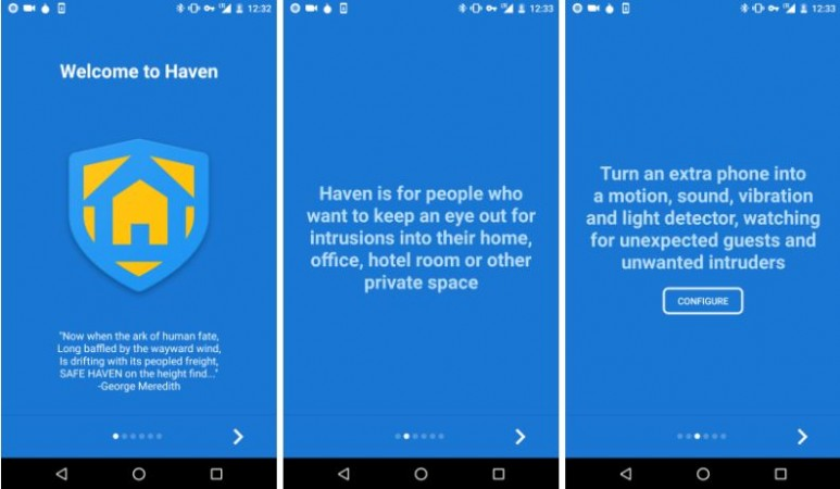 Haven app, Edward Snowden, espionage, National Security Agency