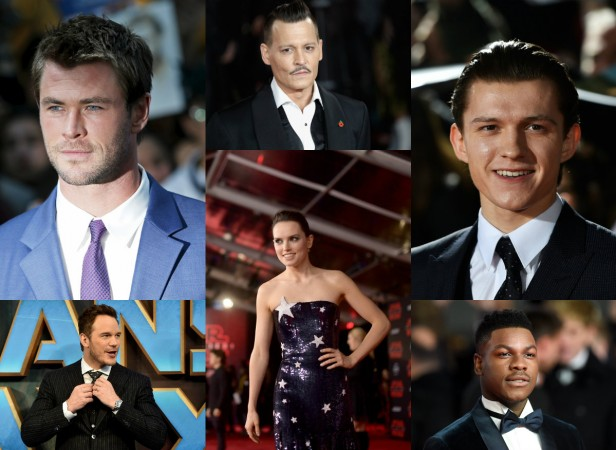 Highest grossing actors 2017, Chris Hemsworth, Tom Holland, Star Wars: The Last Jedi