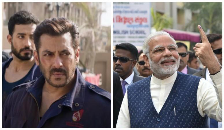 Salman Khan in Tiger Zinda Hai and Narendra Modi