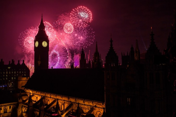 London Fireworks Display Ushers In The New Year